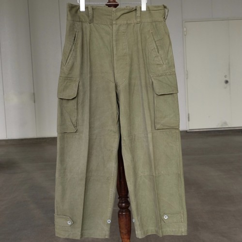 40's~50's FRENCH ARMY M47 TROUSERS METAL BUTTON