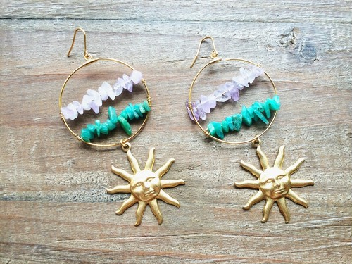 Shiny mermaid hoops