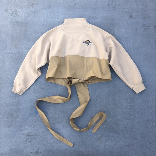 oneoff remeke / west tie sweat top / beige