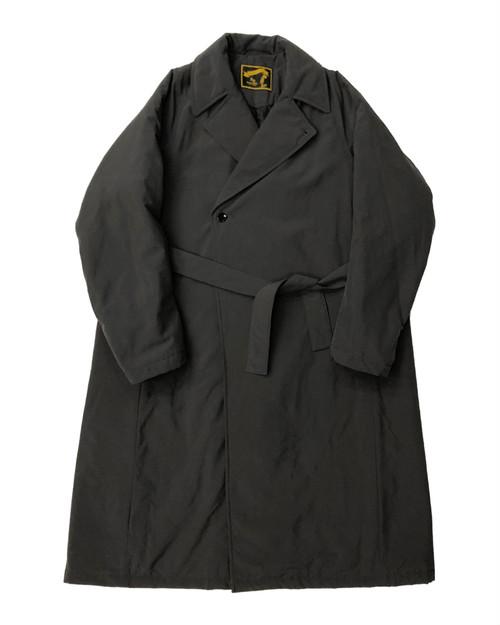 TEFLON NYLON PADDED OVER COAT / テフロンナイロン中綿オーバーコート (BLK)