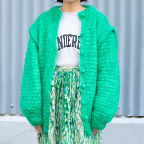 Mohair Design Knit Cardigan