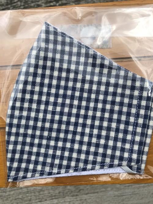 大人用・立体型布マスク(ギンガムチェック)