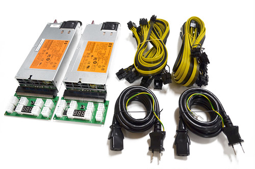 HP 750w POWER SUPPLY KIT PLATINUM サーバー用電源ユニット x 2