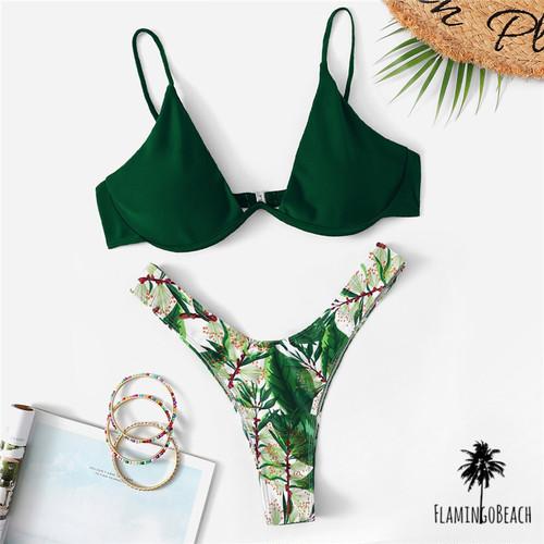 【FlamingoBeach】leaf Brazilian bikini ブラジリアンビキニ