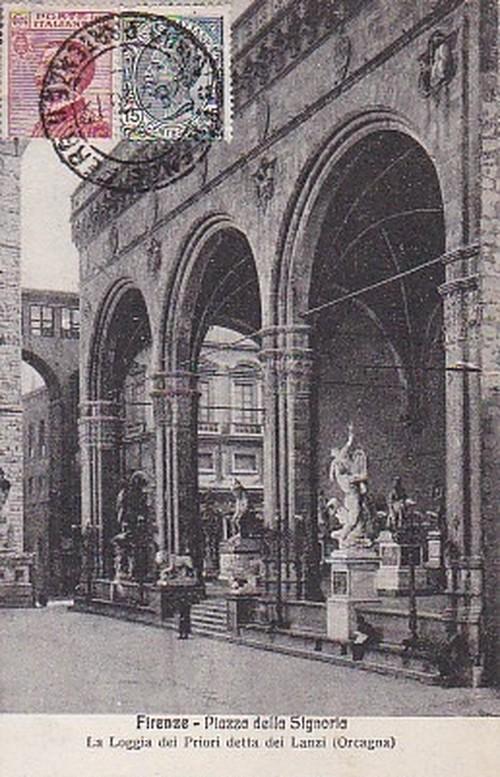 古絵葉書エンタイア「フィレンツェ」(1900年代初頭)
