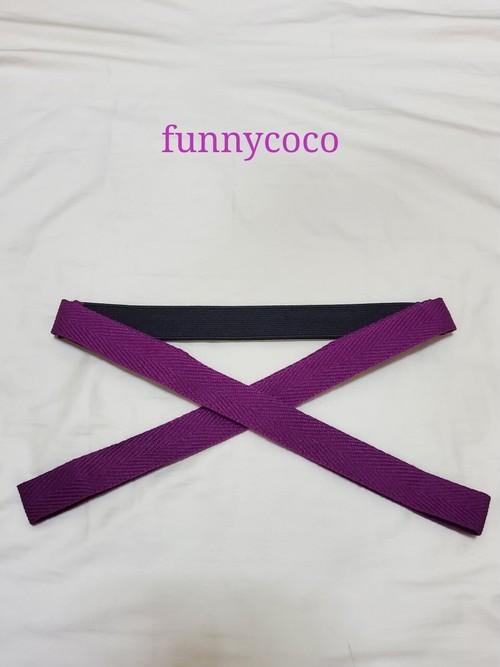 カラー三重紐 黒、紫