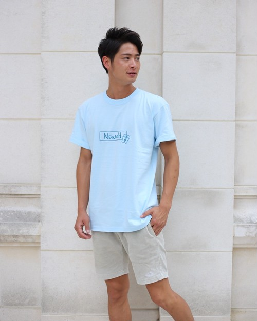 BOX LOGO TEE《L-Blue》