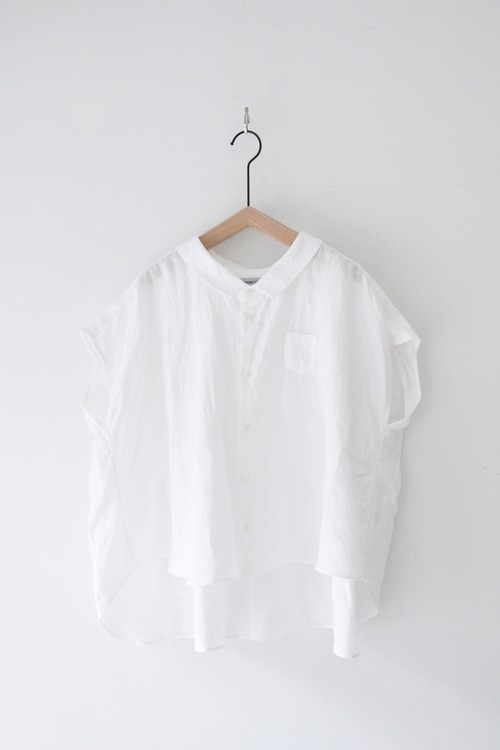 """RESTOCK""【ORDINARY FITS】 LINEN BARBER NO SLEEVE SHIRT/OF-S037"