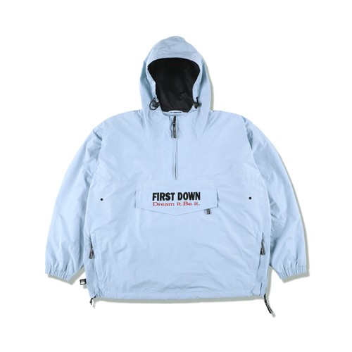 "FIRST DOWN ""SOLOTEX"" Anorak Jacket LIGHT BLUE"