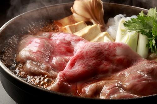 竹 黒毛和牛ロースすき焼1人前(100g)