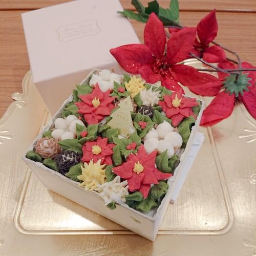 クリスマスボックスケーキ(あんクリーム)