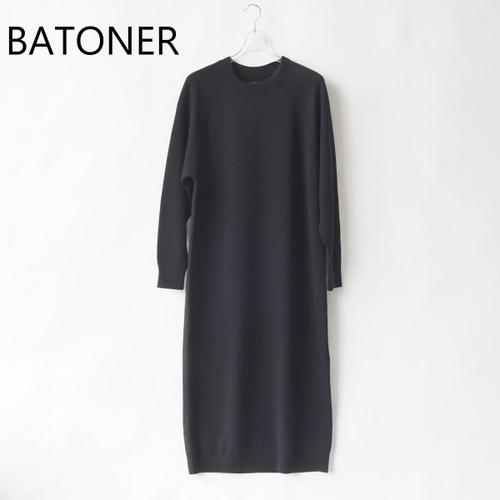 BATONER /バトナー・Aging Wool Crew Neck Onepiece