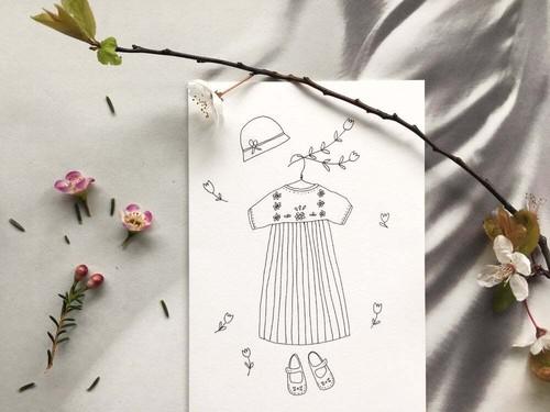 """カード Robette  """"吊りスカート"""""""