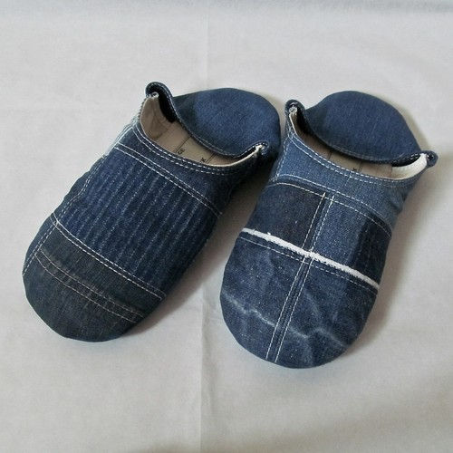 DENIM PATCHWORK ROOMSHOES(L)
