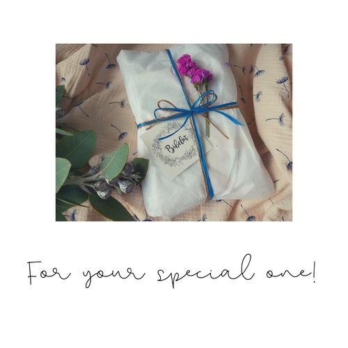 Gift Wrapping 贈り物お包みします 手書きメッセージあり