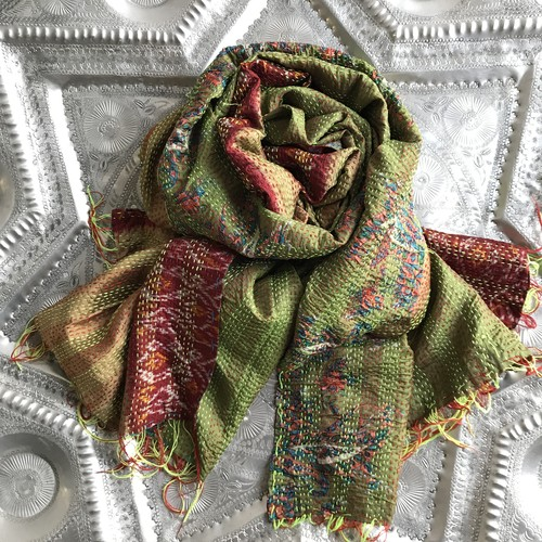 Kantha Silk Stole (Reversible Type)