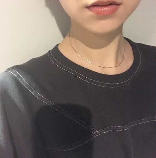 〈new color〉Silver925 snakechain necklace 0012