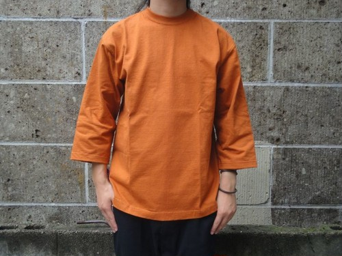 CAMBER (キャンバー) 8oz MAX WEIGHT CUT 8分袖 T-SHIRT GARMENT DYED オレンジ