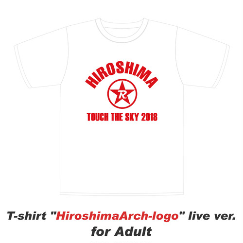 HiroshimaArch-logo live ver. for Adult / Tシャツ(White)【在庫少】【数量限定】