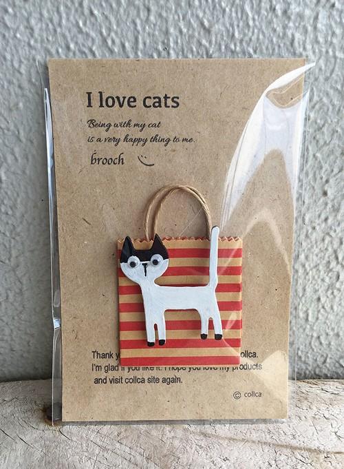 I love cats ねこブローチ 003