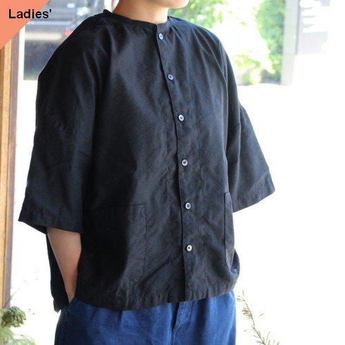 HARVESTY ハーベスティ Short Sleeves Atelier Shirt 半袖アトリエシャツ ブラック A32005