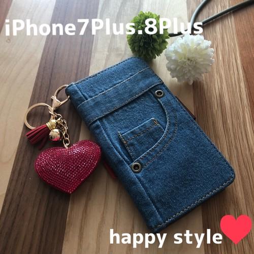 iPhone 6.6s.7.8プラス共通手帳型iPhoneケース★ホルダー付き