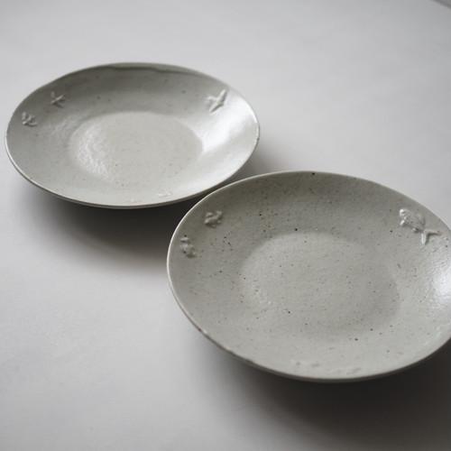 林健二 青白磁7.5寸カレー皿