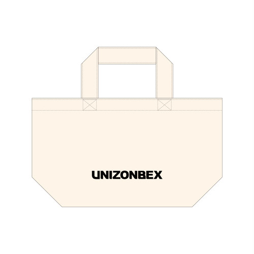 UNIZONBEX ミニエコバッグ ホワイト柄
