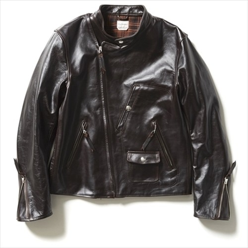 【FILL THE BILL】HORSE LEATHER JACKET - DARK BROWN