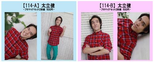 【114】太立健 -ハガキサイズ ブロマイドセット 2枚組-