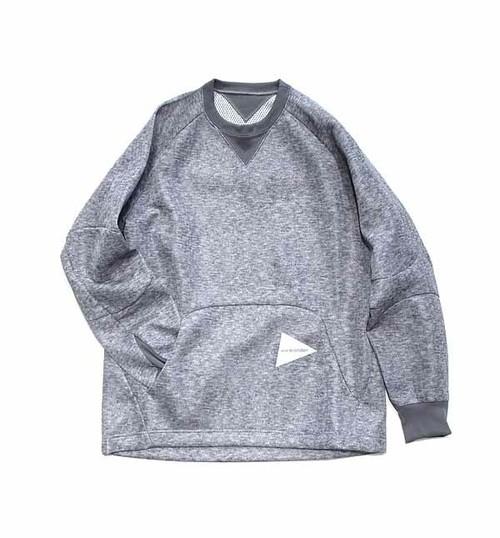 【and wander】W raschel pullover