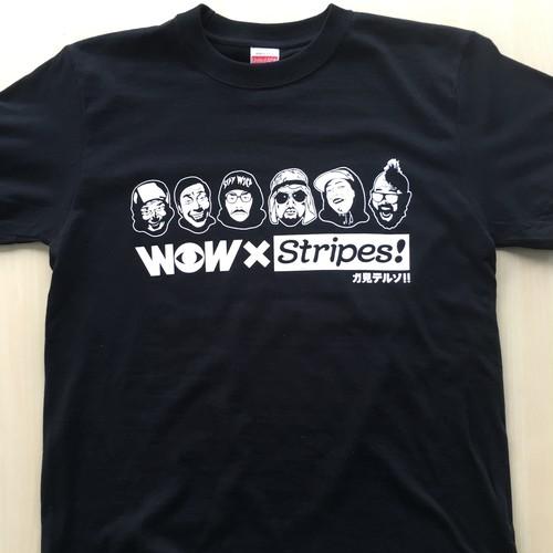 WOW x  stripes コラボTシャツ