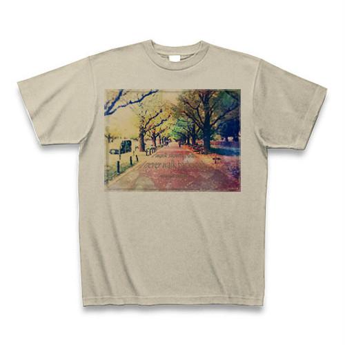 『私の歩みは遅いが、歩んだ道を引き返すことはない。』 Tシャツ(シルバーグレイ)