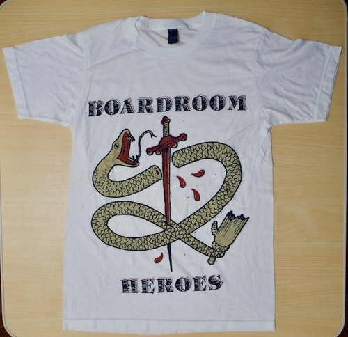 Boardroom Heroes「New Wage vinyl cover art」Tシャツ