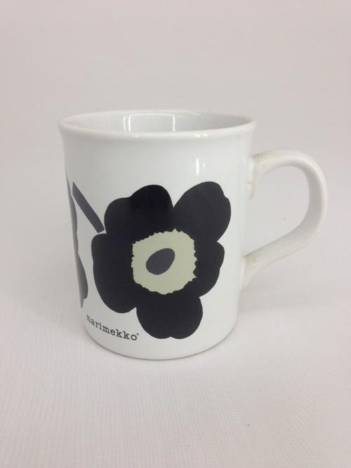 マリメッコ(marimekko)マグカップ 黒 在庫品