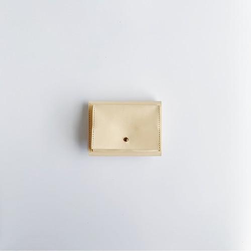 三つ折り財布 Trifold Wallet (VegetableTanned Leather)