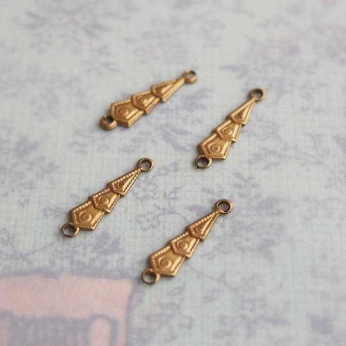 小さな真鍮製のコネクター (4コ)