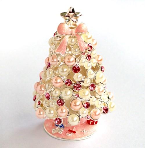 ★クリスマス特別企画★ジュエリーボックス(クリスマスツリー ピンク)