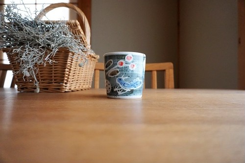 砥部焼/「青い鳥」フリーカップ(小)/森陶房kaori