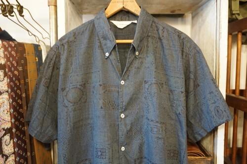 50's BERCKTOWNE ethnic-print cotton s/s Shirt