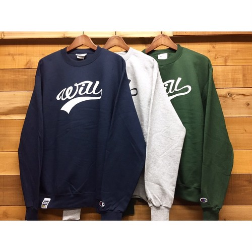 WILL SCRIPT LOGO CREW SWEAT