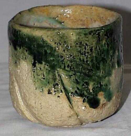 陶芸 【 茶碗 】  織部筒茶碗
