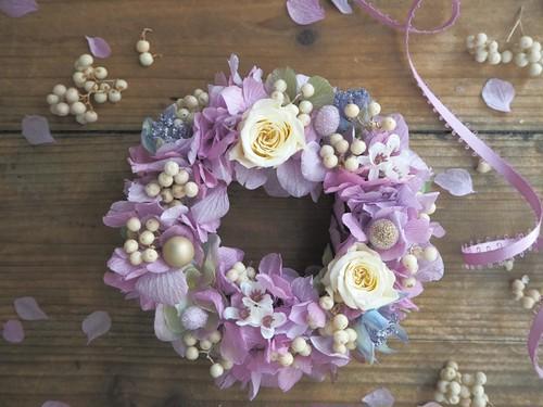 Petite Couronne<Lavender Herb>*幸せ舞い込むリース ミニ・クリスマス プリザーブドフラワー 花