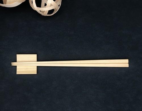 【単品】箸と箸置きセット(青森ヒバ)