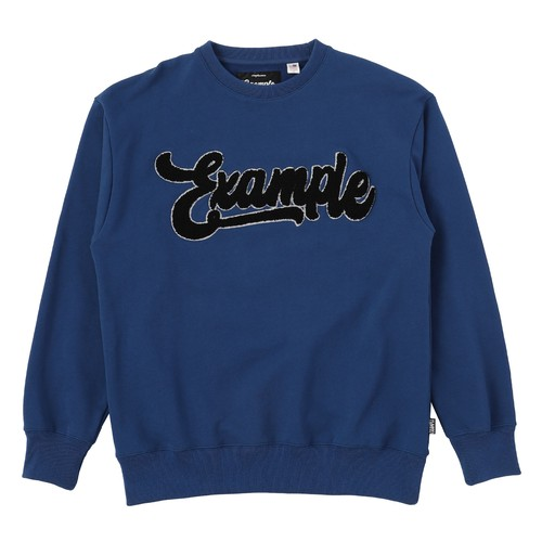 EXAMPLE CHENILE EXAMPLE CREWNECK / BLUE