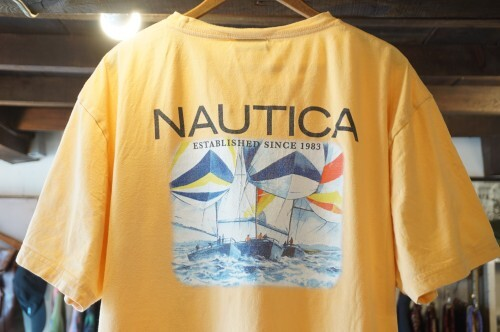 90's NAUTICA sailing-photo printed cotton Tee