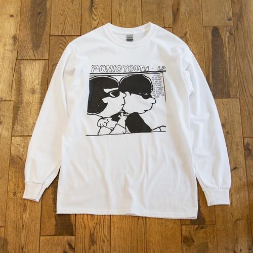 PONIC YOUTH  ロングスリーブTシャツ M.O.T.E. exhpition 「#PEANUTS風」