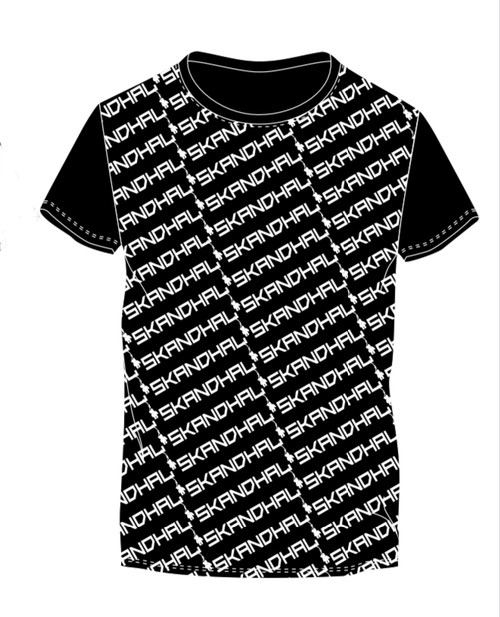 【SKANDHAL】MULTILOGO Tシャツ NAPOLI【ブラック】【新作】イタリアンウェア【送料無料】《M&W》