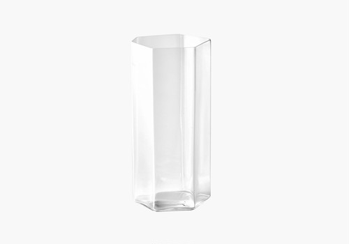 変形角柱グラス 中