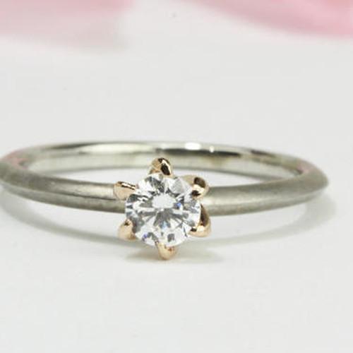 PT1㎜幅の超細のダイヤモンドリングリフォーム